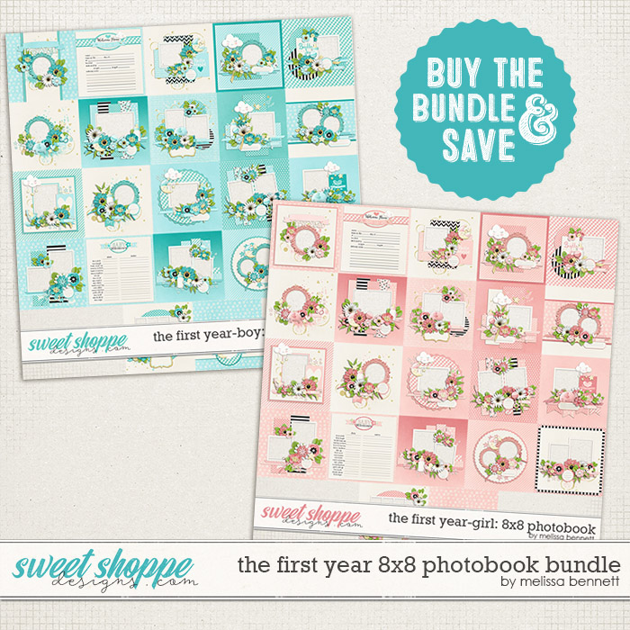 The First Year 8x8 Photobook Bundle by Melissa Bennett
