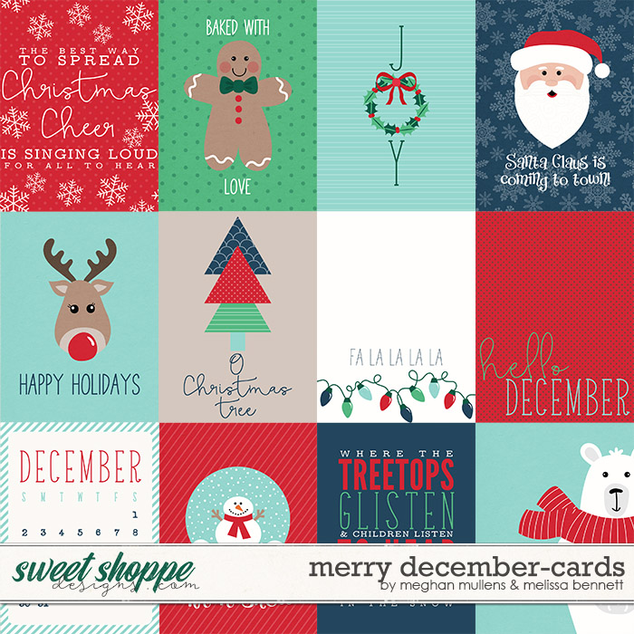 A Merry December-Project Cards by Melissa Bennett and Meghan Mullens