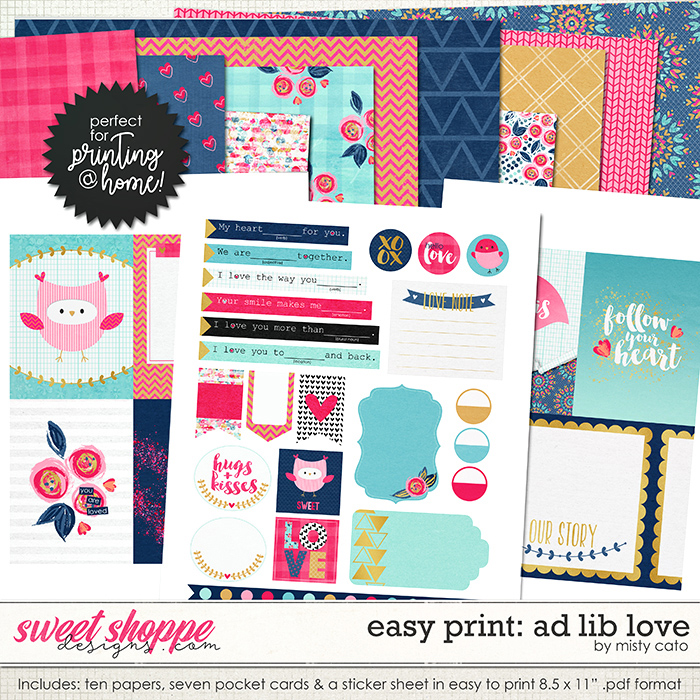 Easy Print: Ad Lib Love by Misty Cato