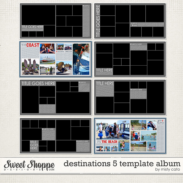 Destinations 5 Template Album by Misty Cato