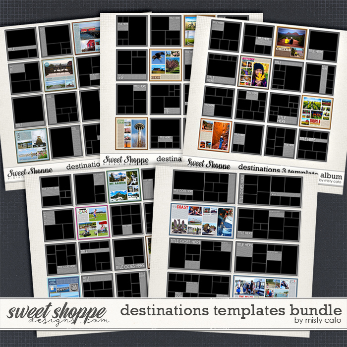 Destinations Templates Bundle by Misty Cato