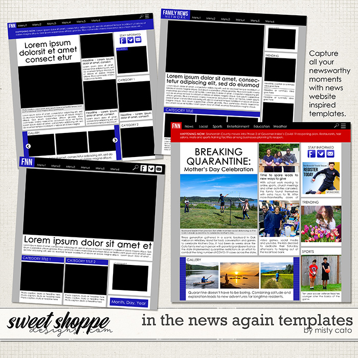 In the News Again Templates by Misty Cato