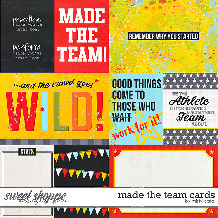 Made the Team Cards by Misty Cato