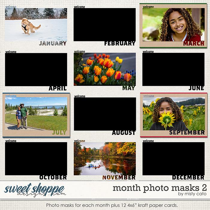Month Photo Masks 2 by Misty Cato