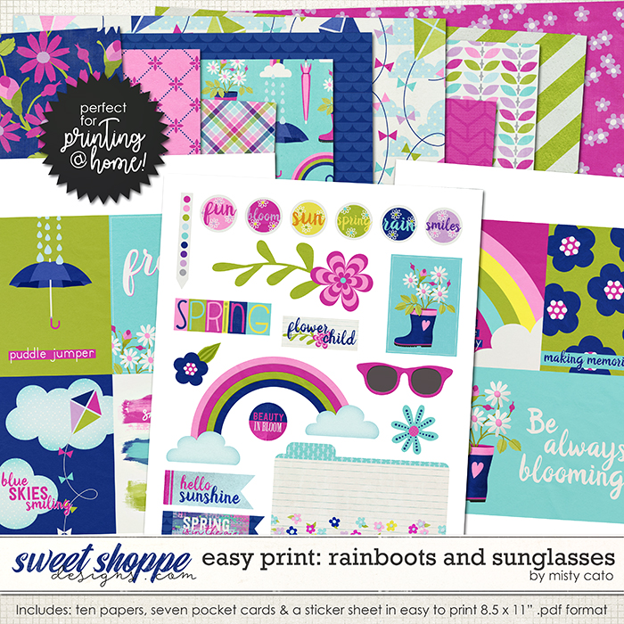 Easy Print: Rainboots and Sunglasses by Misty Cato
