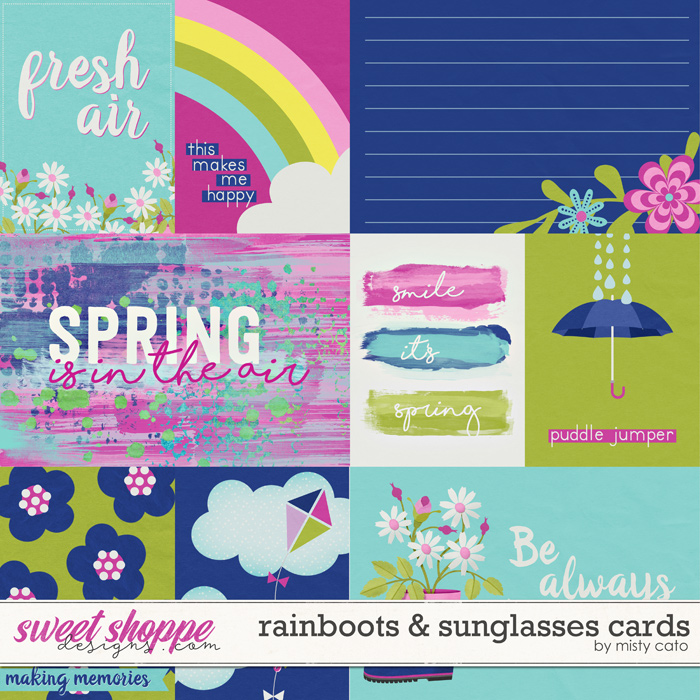 Rainboots and Sunglasses Cards by Misty Cato