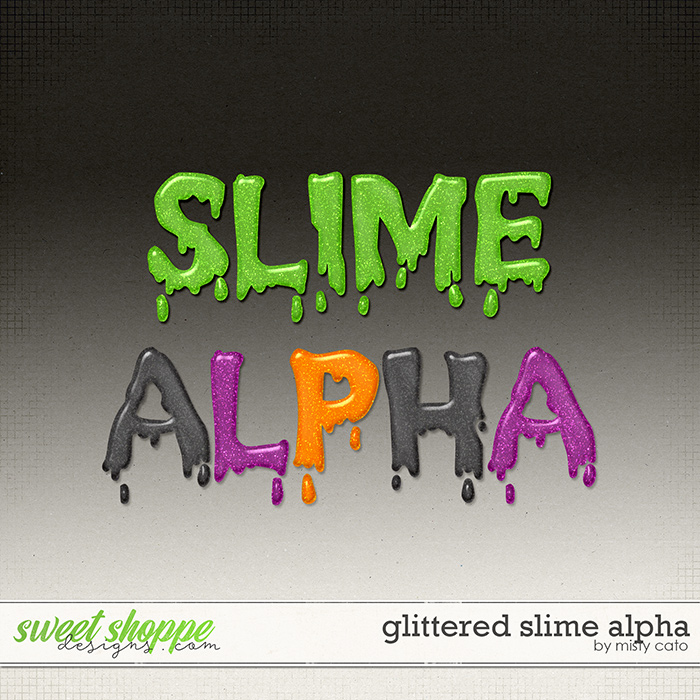 Glittered Slime Alpha by Misty Cato