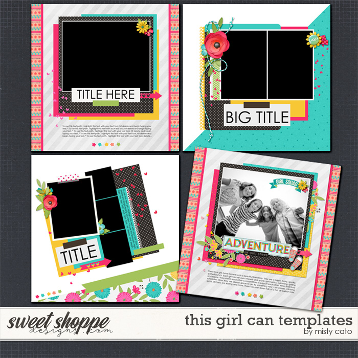 This Girl Can Templates by Misty Cato
