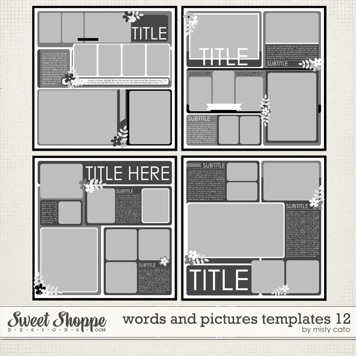 Words and Pictures Templates 12 by Misty Cato