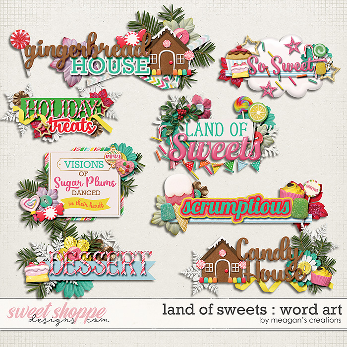 Land of Sweets : Word Art by Meagan's Creations