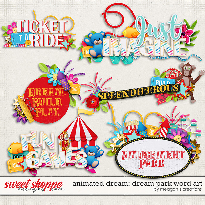 Animated Dream: Dream Park Word Art by Meagan's Creations