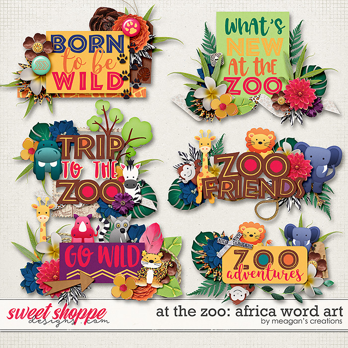 At the Zoo: Africa Word Art by Meagan's Creations