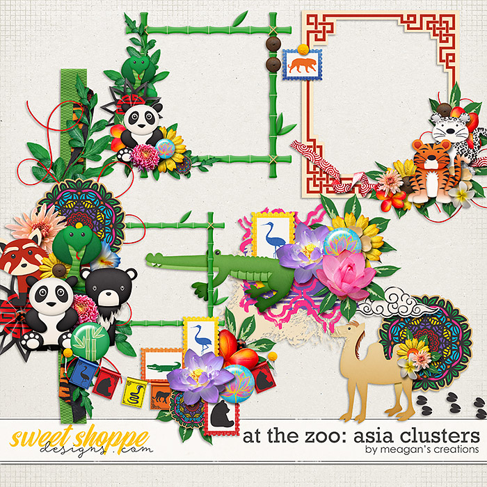 At the Zoo: Asia Clusters by Meagan's Creations