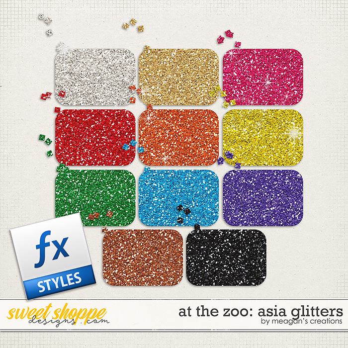 At the Zoo: Asia Glitters by Meagan's Creations