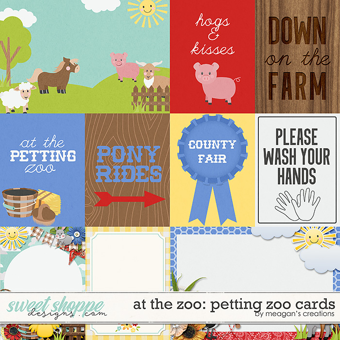 At the Zoo: Petting Zoo Cards by Meagan's Creations