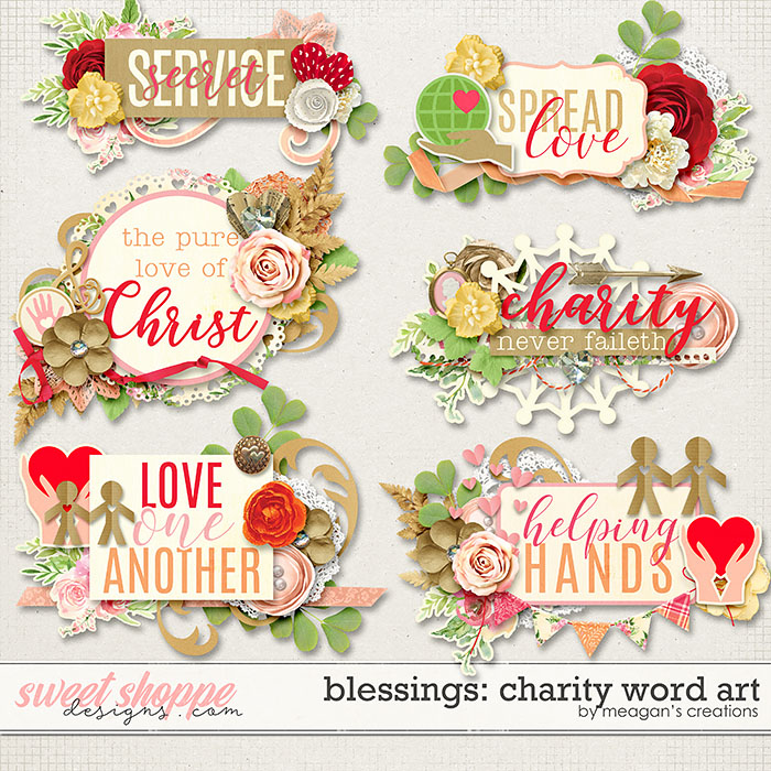 Blessings: Charity Word Art by Meagan's Creations