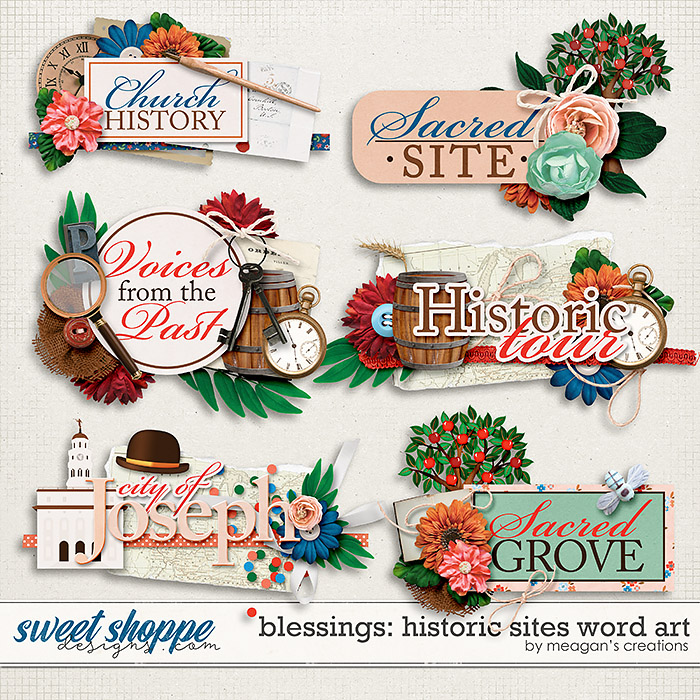 Blessings: Historical Sites Word Art by Meagan's Creations