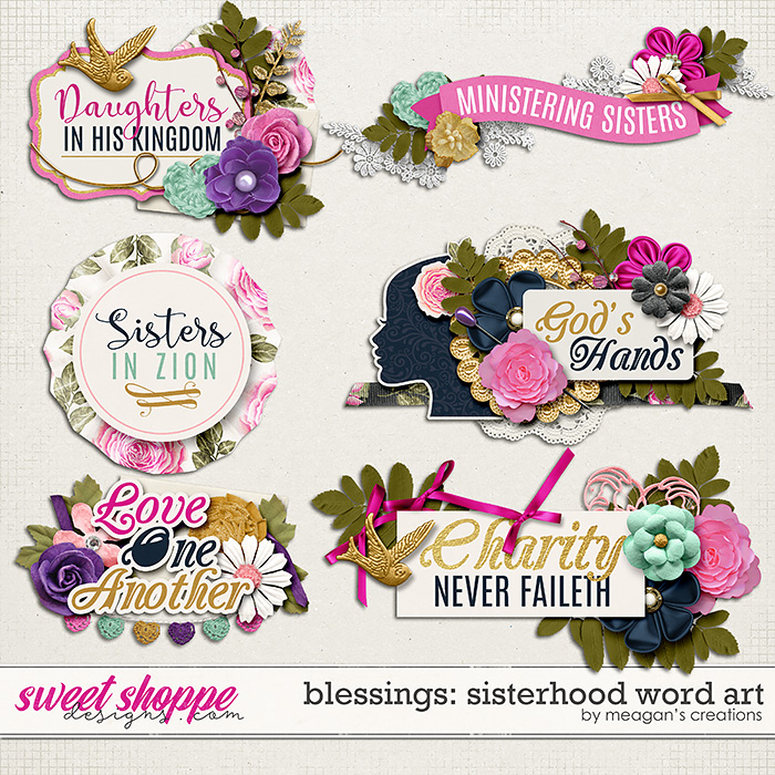 Blessings: Sisterhood Word Art by Meagan's Creations