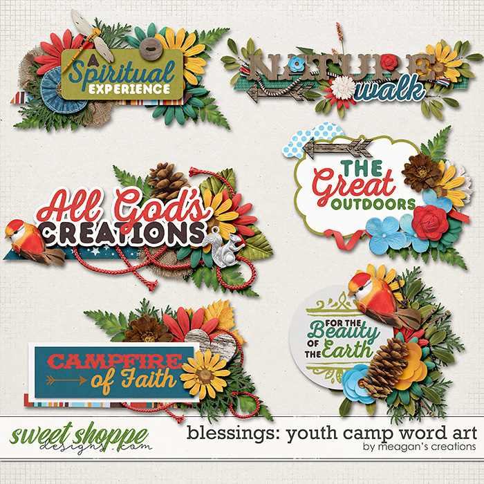 Blessings: Youth Camp Word Art by Meagan's Creations