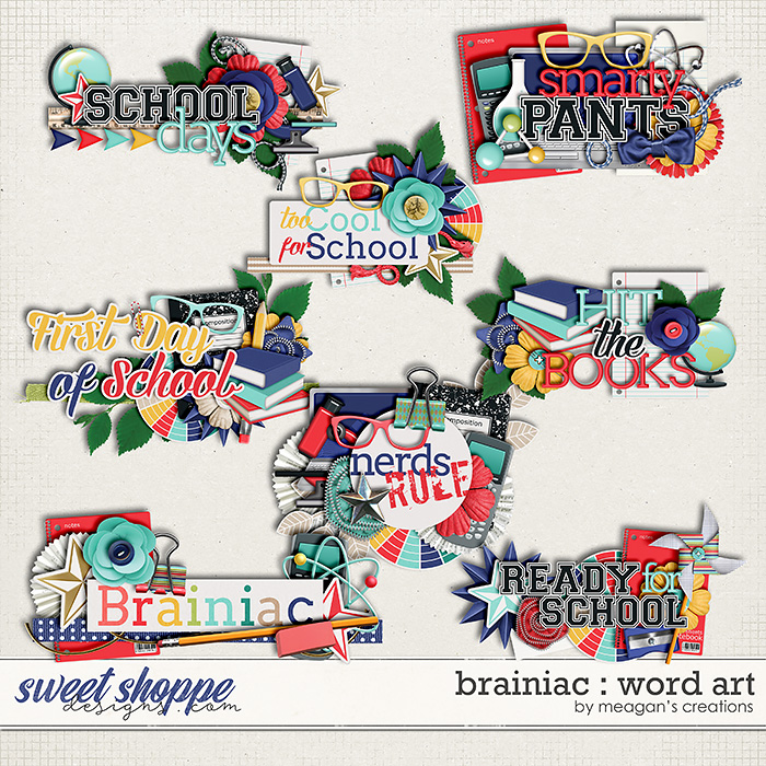 Brainiac : Word Art by Meagan's Creations