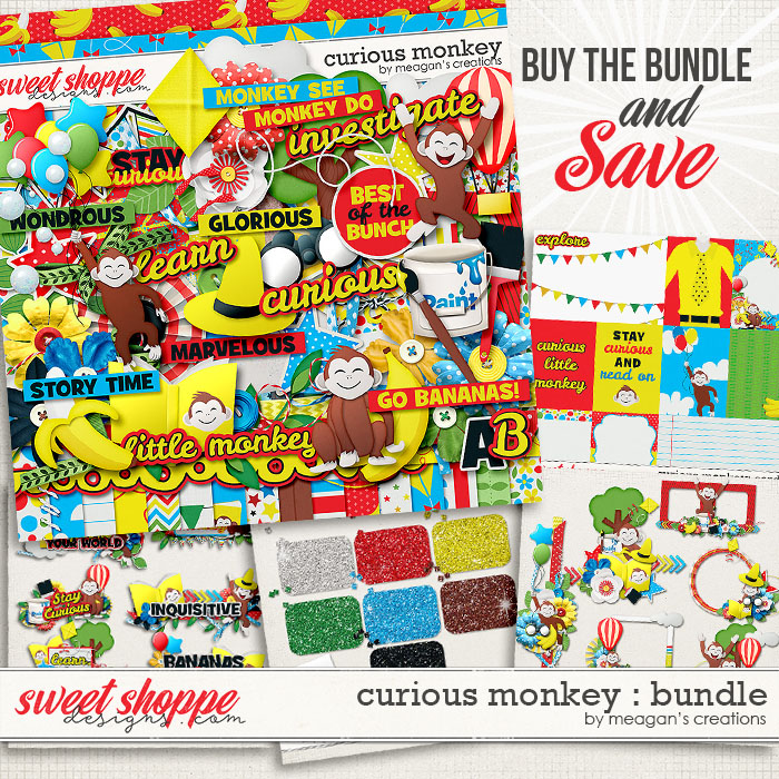 Curious Monkey: Collection Bundle by Meagan's Creations