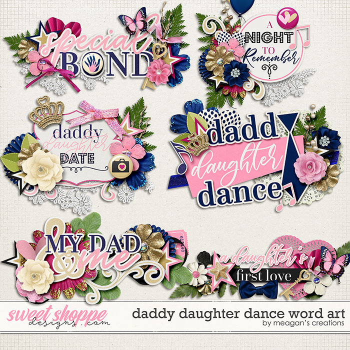 Daddy Daughter Dance Word Art by Meagan's Creations