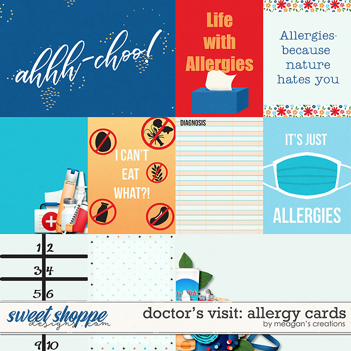 Doctor's Visit: Allergy Cards by Meagan's Creations