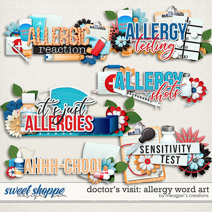 Doctor's Visit: Allergy Word Art by Meagan's Creations