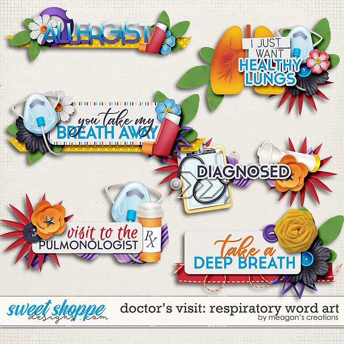 Doctor's Visit: Respiratory Word Art by Meagan's Creations