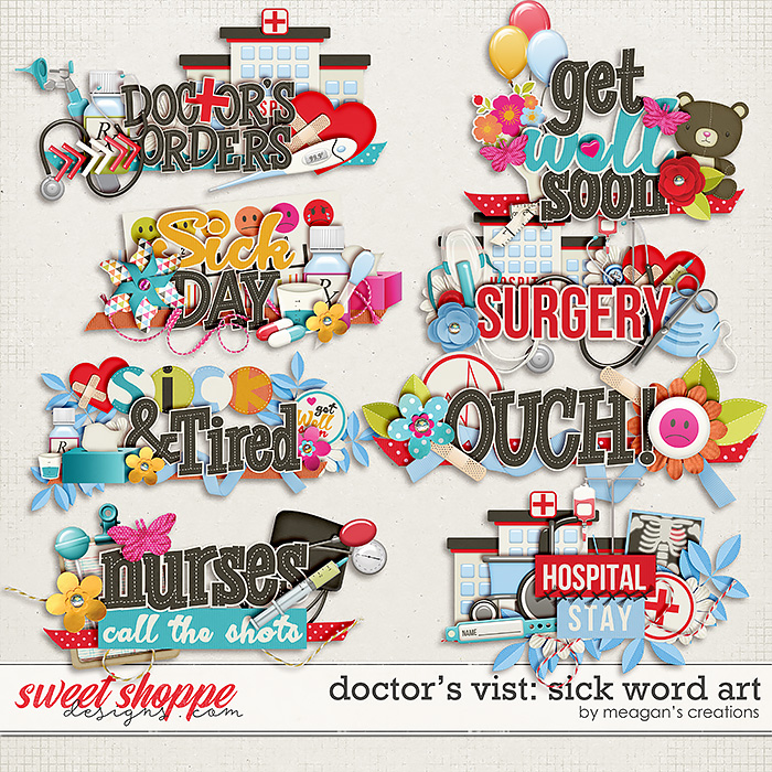 Doctor's Visit: Sick Word Art by Meagan's Creations