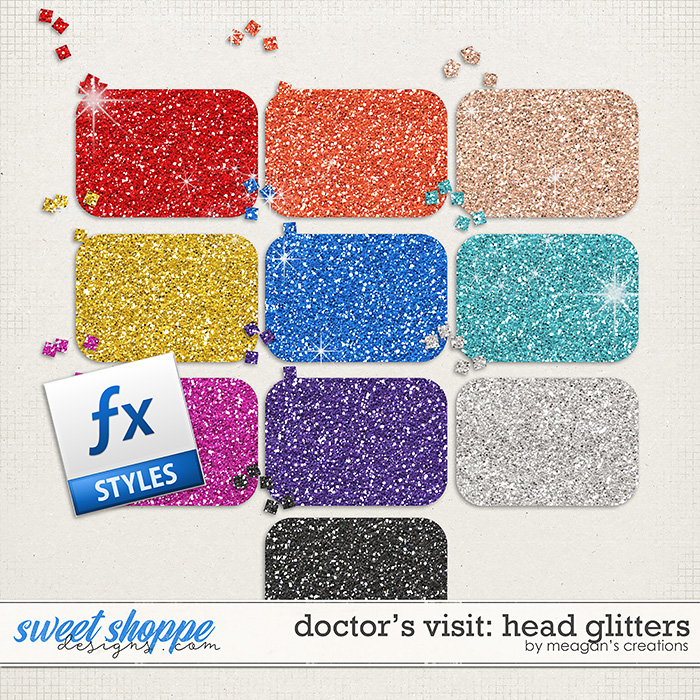 Doctor's Visit: Head Glitters by Meagan's Creations