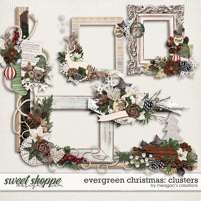 Evergreen Christmas: Clusters by Meagan's Creations