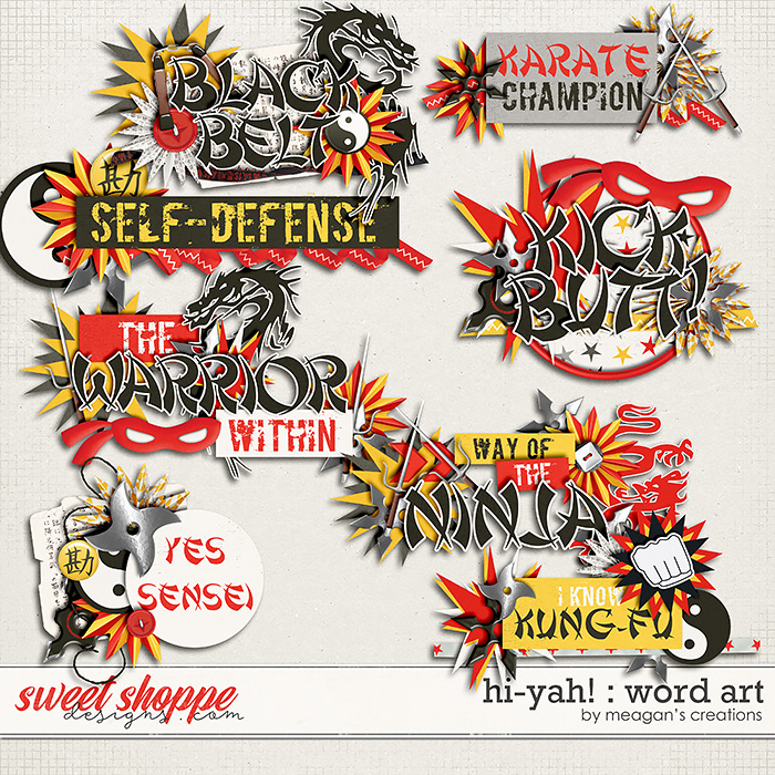Hi-Yah! : Word Art by Meagan's Creations