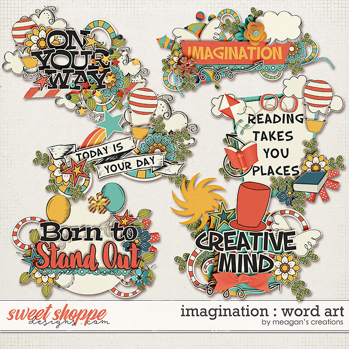 Imagination: Word Art by Meagan's Creations