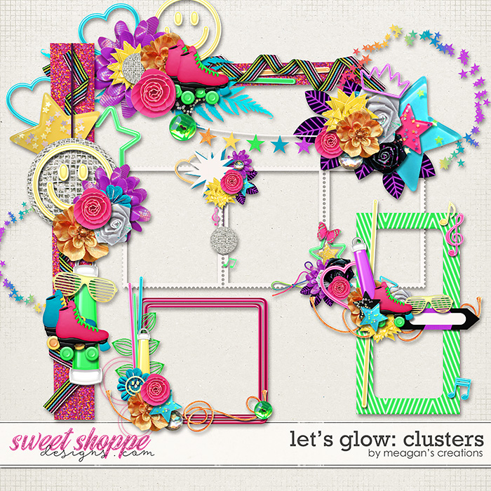 Let's Glow Clusters by Meagan's Creations