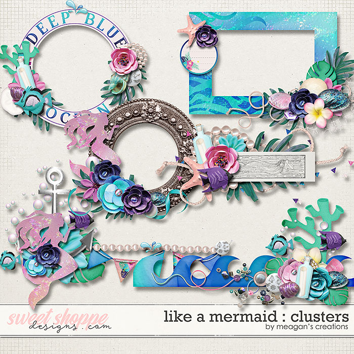 Like a Mermaid : Clusters by Meagan's Creations