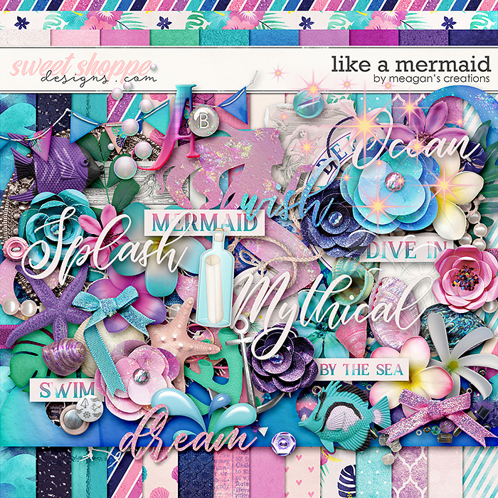 Like a Mermaid : Kit by Meagan's Creations
