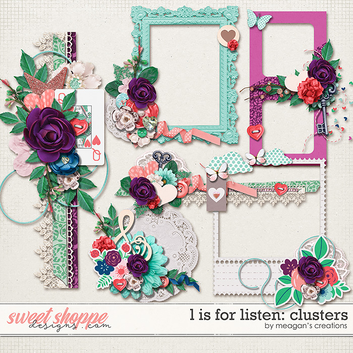 L is for Listen: Clusters by Meagan's Creations