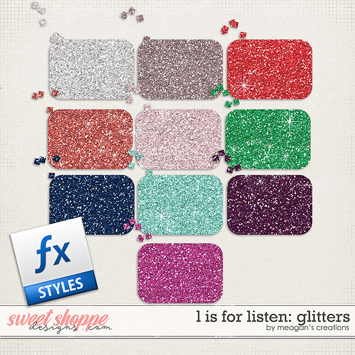 L is for Listen: Glitters by Meagan's Creations