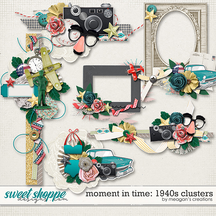 Moment in Time: 1940s Clusters by Meagan's Creations