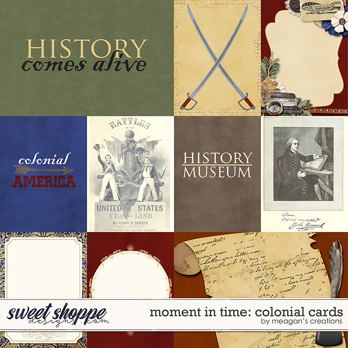 Moment in Time: Colonial Cards by Meagan's Creations