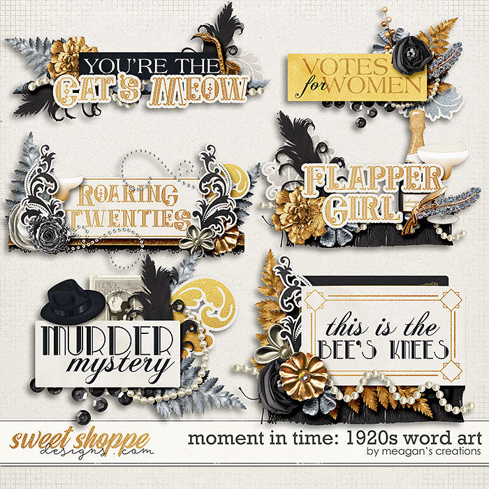 Moment in Time: 1920s Word Art by Meagan's Creations
