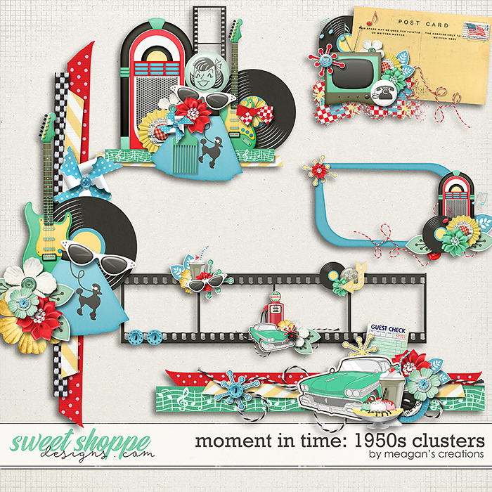 Moment in Time: 1950s Clusters by Meagan's Creations