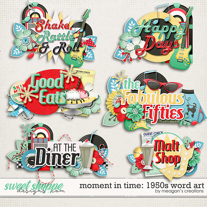 Moment in Time: 1950s Word Art by Meagan's Creations