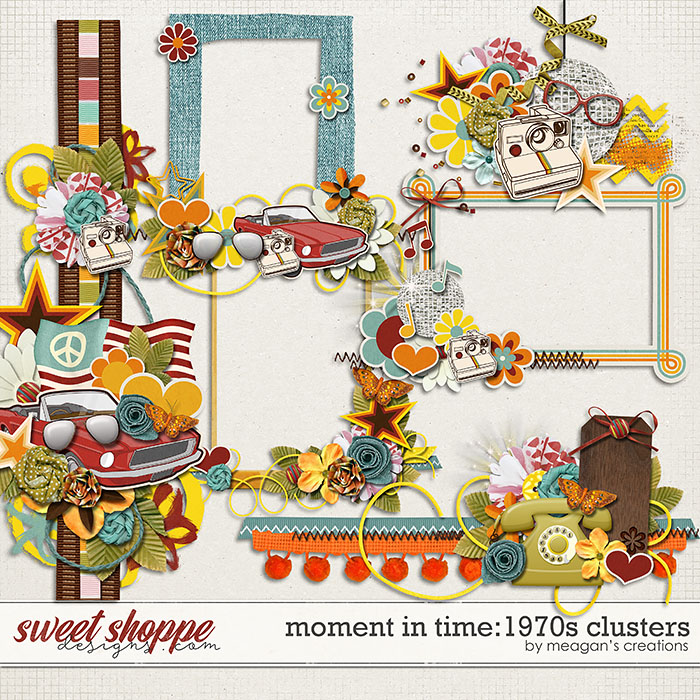 Moment in Time: 1970s: Clusters by Meagan's Creations
