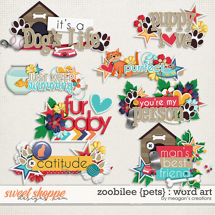 Zoobilee {Pets} : Word Art by Meagan's Creations