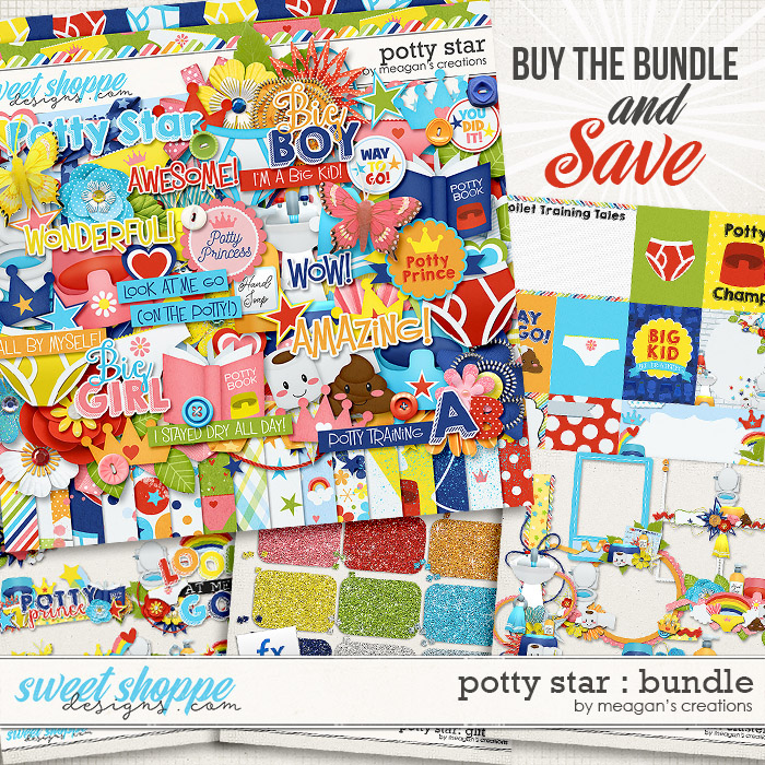 Potty Star Collection Bundle by Meagan's Creations