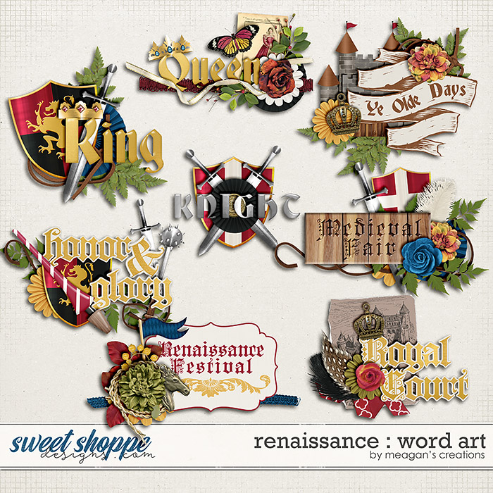Renaissance : Word Art by Meagan's Creations