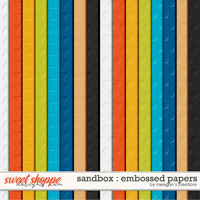 Sandbox : Embossed Papers by Meagan's Creations