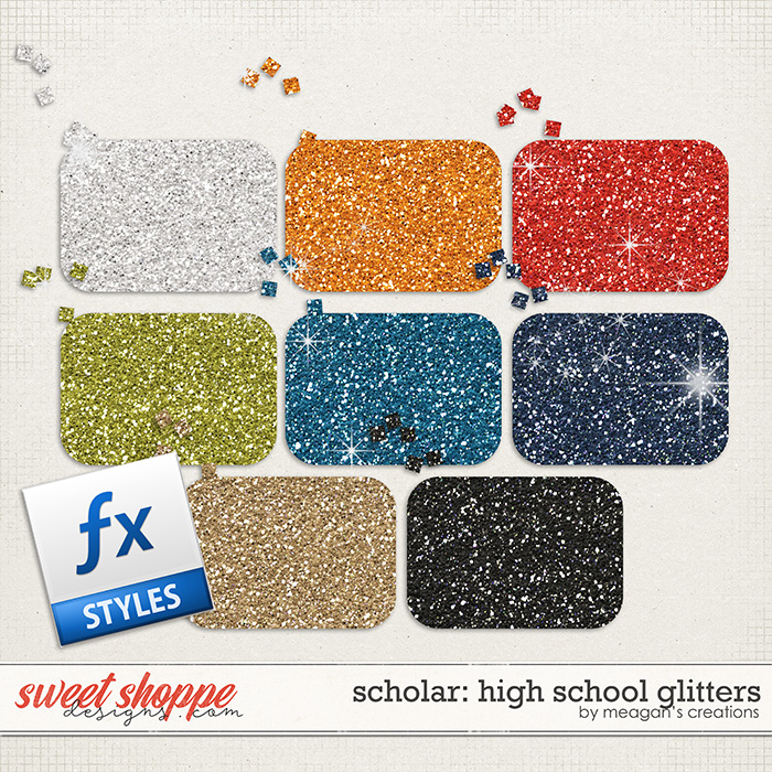 Scholar: High School Glitters by Meagan's Creations